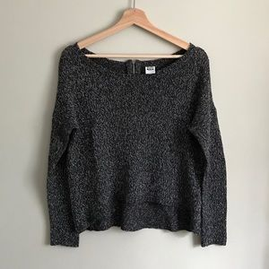 Vero Moda // High-Low Knit Sweater in Dark Grey